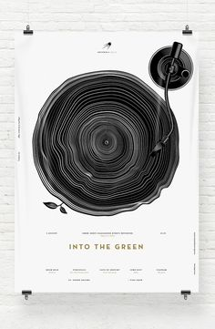 This is not exactly a logo, but the graphic speaks volumes to me. It called 'Into the Green', a music event held outdoors. Absolutely LOVE!