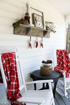 This super simple and rustic Christmas front porch is not only easy to put together, but also amazing on your wallet as well. All you need is a few items!