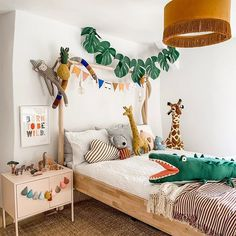 Animal Safari interior decor ideas with Ikea storage. Scandi kids room ideas wit… Animal Safari interior decor ideas with Ikea storage. Scandi kids room ideas with leopard and crocodile art. Jungle th Bedroom Storage Ideas For Clothes, Bedroom Storage For Small Rooms, Bedroom Shelving, Bedding Master Bedroom, Girls Bedroom, Diy Bedroom, Room Girls, Toddler Rooms, Baby Boy Rooms