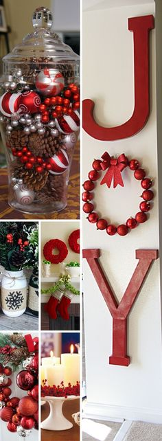 I love decorating for Christmas and the home decor stores make me want to decorate my house like out of a magazine. But I can't afford those beautiful Christmas decorations on a budget. These cheap Christmas decorations are exactly what I need to decorate Diy Christmas Decorations For Home, Christmas On A Budget, Christmas Design, Winter Christmas, Christmas Home, Christmas Crafts, Christmas Vases, Rustic Christmas, Holiday Decor