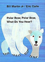 @Overstock - An exploration of sound in a zoo setting. A polar bear hears a lion roaring, who hears a hippopotamus snorting, and so on.  Collage illustrations accompany the text.http://www.overstock.com/Books-Movies-Music-Games/Polar-Bear-Polar-Bear-What-Do-You-Hear-by-Bill-Martin-Hardcover/792596/product.html?CID=214117 $7.87