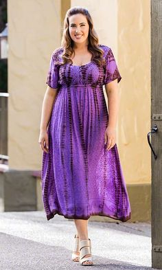Poeme Maxi Dress / MiB Plus Size Fashion for Women / Summer Fashion / Tie Dye / Purple http://www.makingitbig.com/product/5227