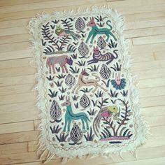 A beautiful numdah rug - I haven't seen one of these for years; I remember buying one for my sister in the sixties.