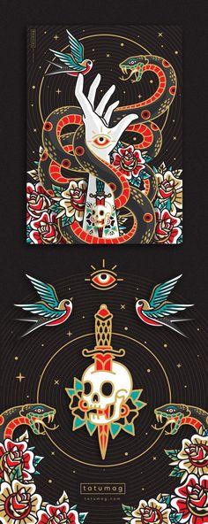 ideas illustration art tattoo ink behance for 2019 Art And Illustration, Illustrations, Creative Illustration, Art It, Kunst Tattoos, Japanese Art, Art Inspo, Pop Art, Concept Art