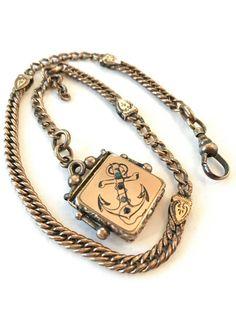 Vintage Victorian Watch Chain & Fob by AntiqueJewelryForFun #vogueteam #victorianfob