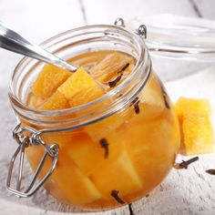 Pumpkin Pickles: 1 cinnamon stick, 6 whole allspice berries, 5 whole cloves, 3 cups granulated sugar 2 cups white vinegar, 12 cups pumpkin Fall Recipes, Great Recipes, Favorite Recipes, Canning Vegetables, Lean Cuisine, How To Make Pumpkin, Goat Cheese Salad, Seasonal Food, Hobby Farms
