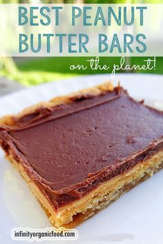 The Best Peanut Butter Bars on the Planet! They are the best ever! Best Peanut Butter, Peanut Butter Desserts, Yummy Treats, Sweet Treats, Yummy Food, Baking Recipes, Cookie Recipes, Fudge, 13 Desserts