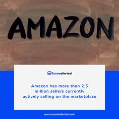 Amazon has more than 2.5 million sellers currently actively selling on the marketplace (Marketplacepulse, 2019). There are roughly 25,000 sellers on Amazon with more than $1 million in sales, and 200,000 sellers with more than $100,000 in sales. Every year more than a million new sellers join Amazon.  Visit us at www.ecomsellertool.com  Follow us @ecomsellertool Follow us @ecomsellertool - - - - - - - - - #amazon #amazonprime #amazonfbatips #amazonsellers #amazonfbalife #amazonfbaseller Track Shipment, Warehouse Management, Amazon Advertising, Ecommerce Software, Amazon Fulfillment Center, Supply Chain Management, Amazon Seller, Amazon Fba, Software Development