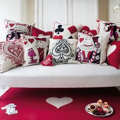 Deck of cards cushions