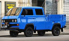 VW Syncro crew cab transporter 4WD Type 2 (T3) by D70, via Flickr
