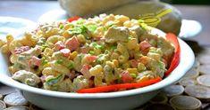 Sałatek z kurczakiem i makaronem są dziesiątki, owszem, ale (!) ta jest wyjątkowa. Źródłem rozkosznego smaku jest tu sos, po prostu skosztuj... Tortellini, Guacamole, Salad Recipes, Potato Salad, Food And Drink, Rice, Cooking, Ethnic Recipes, Macaroni Salads