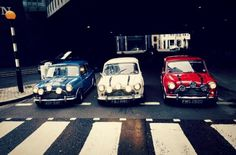 Old school Mini Coopers
