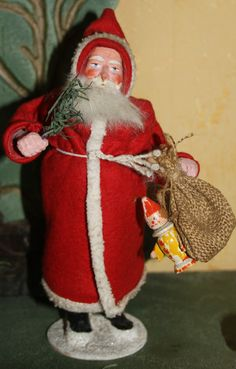 Vintage German Santa candy container. Photo via web....