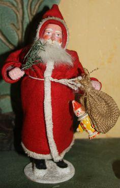 Vintage German Santa candy container. Photo via web....
