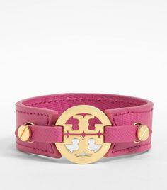 Logo Skinny Double Snap Cuff | Womens Bracelets | ToryBurch.com