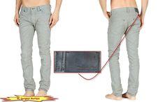 DIESEL Men 'Thavar' Slim Skinny Jeans 0801D Silver Grey size 38 NEW NWT $298 #DIESEL #SlimSkinny