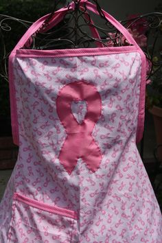 The Survivor breast cancer awareness apron