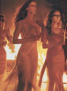 """Le Ultime Vestali"" photographed by Steven Meisel for Vogue Italia Couture Supplement 1998"