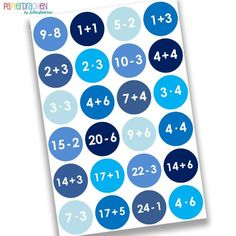 24 Adventskalender Zahlen - Nr.9 - Aufkleber Sticker