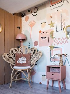 Bedroom Murals, Bedroom Wall, Diy Bedroom Decor, Wall Murals, Living Room Decor, Wall Decor, Home Wallpaper, Home Decor Inspiration, Wall Design