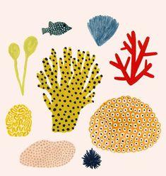 Painting Sea Creatures Nature 29 New Ideas Art And Illustration, Floral Illustrations, Pattern Illustration, Kate Pugsley, Art Journal Inspiration, Art Plastique, Art Projects, Art Prints, Craft