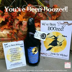 Surprise your neighbors with a BOOzey treat with this You've been BOOzed printable set! fill a bucket with treats, ring the door, and run! Adult Halloween Party, Halloween Goodies, Halloween Gifts, Holidays Halloween, Happy Halloween, Halloween Decorations, Halloween Ideas, Halloween Party Favors, Halloween Drinks
