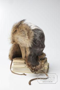 FROST Seal Skin Hat w/ Coyote Fur www.feldur.is