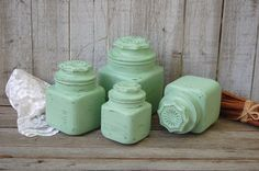 Shabby chic kitchen canister set