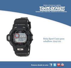 Reloj Casio sport para caballero. Costo del artículo puesto en El Salvador  $197.62 http://amzn.com/B001A62M04