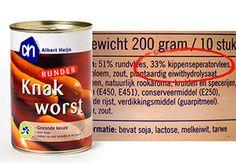 Wall of Shame van de Consumentenbond: over onzin op etiketten: producten waarvan de naam niet overeenkomt met de inhoud, belangrijke ingrediënten die er nauwelijks in blijken te zitten en loze claims (bijvoorbeeld 0% vet op een product met veel suiker)