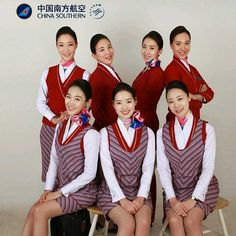 China Southern Airlines stewardesses Repost From @sylvia_fly
