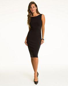 Stretch Viscose Boat Neck Dress - This stretch viscose boat neck dress will fit you like a glove.