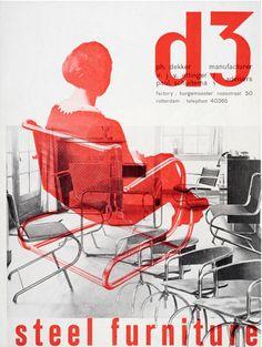 By Paul Schuitema, c 1932/33, brochure for tubular steel furniture for Ph. Dekker, Rotterdam.