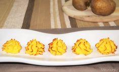 Le patate duchesse sono un tipico contorno di origine francese, è una ricetta facile e coreografica, rapidissima da fare con il bimby.   Procedimento per preparare le patate duchessa