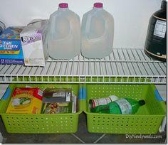 recycle bins in pantry