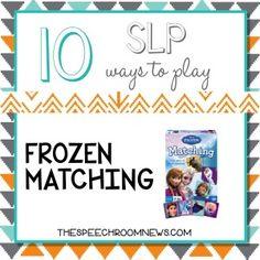 10 SLP Ways to Play: Frozen Matching