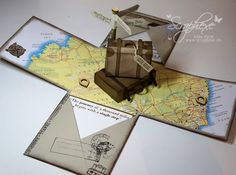 Risultati immagini per explosion box die 3d Cards, Pop Up Cards, Folded Cards, Diy Gift Box, Diy Box, Diy Gifts, Diy Paper, Paper Crafts, Ideas Scrapbook