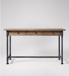 Kane, Console Table, Reclaimed Pine & Steel