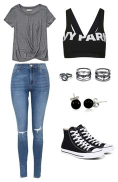"""""""Comfortable"""" by alexis-hoffman ❤ liked on Polyvore featuring Abercrombie & Fitch, Topshop, Lulu*s, Bling Jewelry and Converse"""