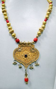 vintage antique tribal old 20 K gold necklace by TRIBALEXPORT, $4999.00