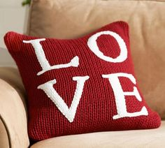 Potterybarn pillow for Valentine's Day