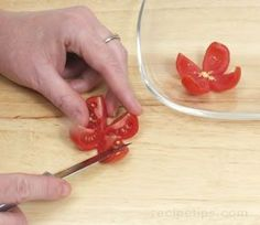 Cherry Tomato Flower  Garnish                                                                                                                                                                                 More