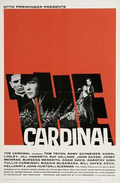 "MP139. ""The Cardinal"" American Movie Poster by Saul Bass (Otto Preminger 1963) / #Movieposter"