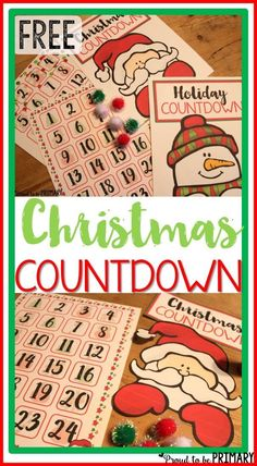 Count the days until Christmas with this DIY Christmas Holiday Countdown. Kids can countdown with Santa and Frosty the Snowman and get excited as that special days draws near. Grab the FREE printable sign to hang in December. #teacherfreebies #christmascountdown #christmasactivities #christmasprintable