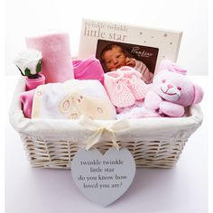 Twinkle Twinkle 'Its A Girl' Baby Hamper Our pretty in pink hamper is a very thoughtful gift to welcome a new baby girl. £60.00