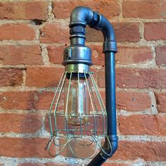 Upcycled Gauge and Cage Pipe Lamp http://www.upcycledcreative.co.uk/buysomething/upcycled-gauge-and-cage-pipe-lamp-1