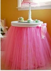 Tutu Side Table Skirt Nightstand...cute idea (for sale on Etsy...would make my own).