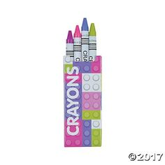 Pastel Color Brick Crayons  24 mini boxes >>> You can get more details by clicking on the image.