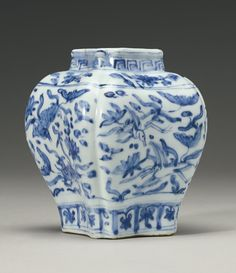 A blue and white jar, Zhengde mark and period