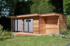 This bespoke design by eDEN Garden Rooms has been designed to appreciate the garden it sits within. The building also features an eco-toilet and spacious storage shed. Interior Design Keywords, Garden Office Shed, Insulated Garden Room, Contemporary Garden Rooms, Garden Diy On A Budget, Garden Ideas, Garden Studio, Garden Buildings, Glass Garden